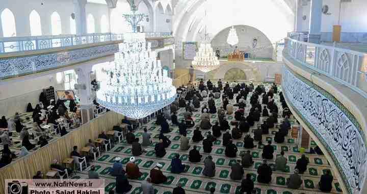 گزارش تصویری/ مراسم نماز جمعه آباده (1399/12/1)