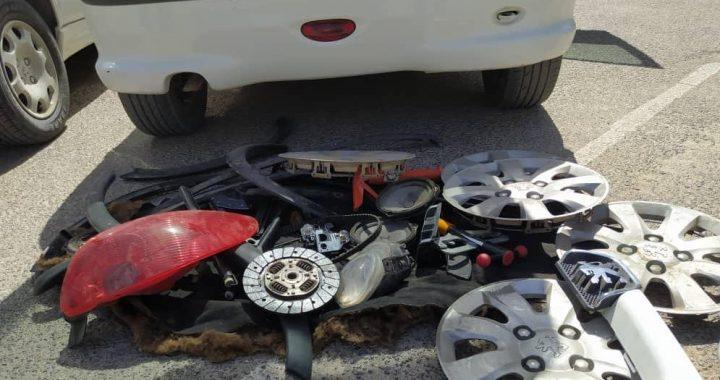 دستگیری سارق و کشف خودرو سرقتی در آباده
