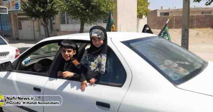 عزاداری خودرویی در روز عاشورا / آباده