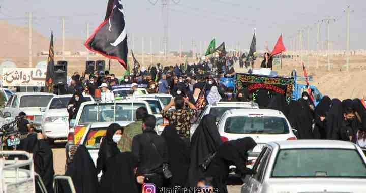 پیاده روی باشکوه جاماندگان اربعین در آباده / گزارش تصویری